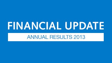 Financial Update Annual Results 2013